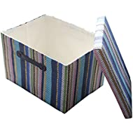 TheWarmHome Decorative Storage Box with Lid for Office...