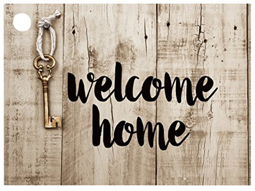 Rustic Welcome Home Theme Gift (6 Pack ) 3-3/4x2-3/4'' by Nas