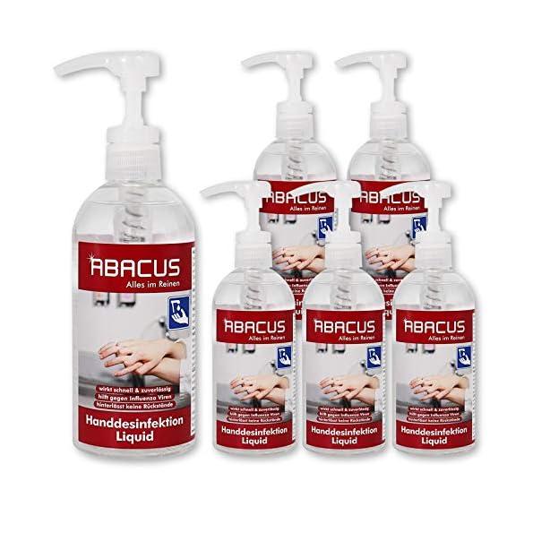 ABACUS-6x-500-ml-Handdesinfektion-Liquid-mit-Dosierpumpe-Desinfektionsmittel-flssig-Hnde-Oberflchen-Desinfektion-7566