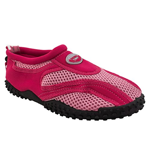 The Wave Womens Water Shoes Pool Beach Aqua Socks Yoga Oefening Trends Snj 1185l Fuchsia Roze