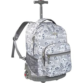 Sunrise Rolling Backpack Color: White