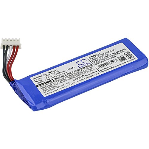 3000mAh Replacement for JBL Flip 4, Flip 4 Special Edition Battery, P/N GSP872693 01