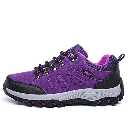Adulto TAOFFEN Casual Sportive Hiking Scarpe Purple Women Stivali Unisex tqrnfwqO