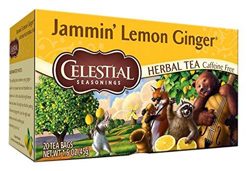 Celestial Seasonings Herbal Tea - Jammin Lemon Ginger - Caff