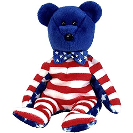0251afd2ff4 Image Unavailable. Image not available for. Color  Ty Beanie Babies Liberty  - Bear Blue (USA ...
