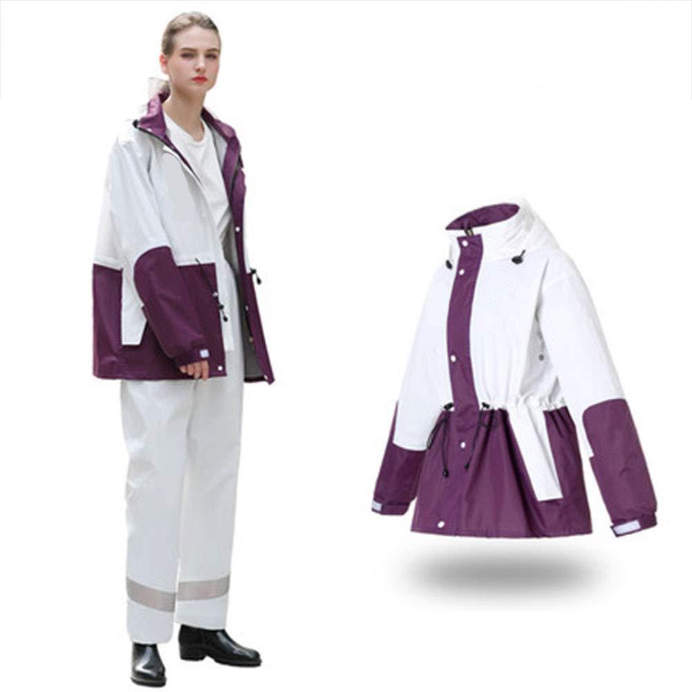 Violet XX-grand GERUAFU Pantalon de Pluie Costume imperméable imperméable Adulte Hommes et Femmes imperméable en Plein air Moto imperméable