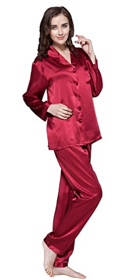 c589022a98 LILYSILK Silk Pajamas for Women Comfy Two Piece Set Long Sleeve 16 Momme  Pure Mulberry Natural