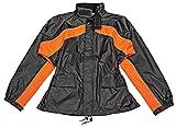 Joe Rocket 1010-2703 RS-2 Men's Motorcycle Rain Suit (Black/Orange, Medium)