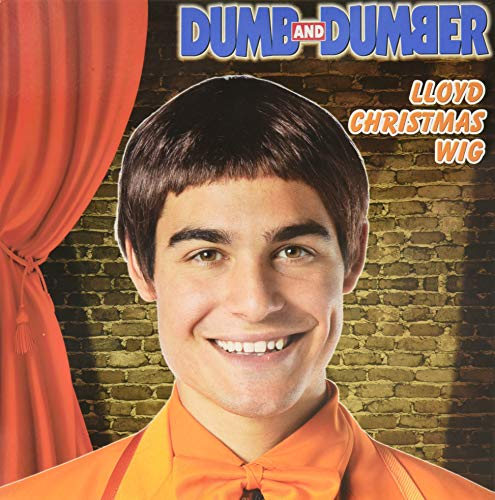 Rasta Imposta Dumb and Dumber Lloyd Christmas Wig Costume, Brown, One Size]()