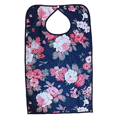 - Jytrading Graceful Movable Bib Lover Mealtime Cloth Sleeve Disability Aid Apron Hibiscus