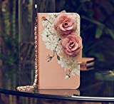 3D Rose FLOWER Beautiful Cute Camellia Handbag Leather Wallet Card Strap Case Cover For Smart Mobile Phones