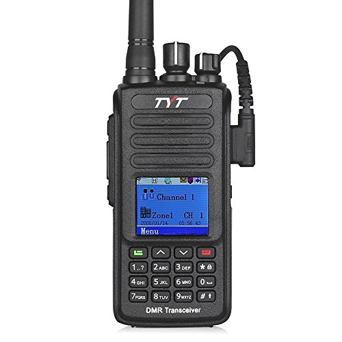 Walkie Talkie Gps - TYT Upgraded MD-390 DMR Digital Radio, with GPS Function! Waterproof Dustproof IP67 Walkie Talkie Transceiver, VHF 136-174MHz Two-Way Radio, Compatible with Mototrbo, with 2 Antenna, Black
