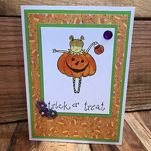 Jack O Lantern Costume Halloween Blank Greeting Card -