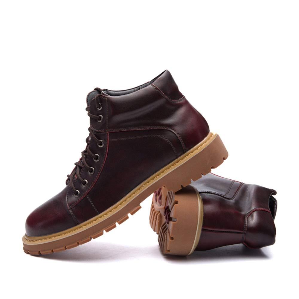 SHENNANJI Herrenmode Stiefeletten Hohe Stiefeletten Herrenmode Ankle Work Stiefel Lässige Vintage Runde Zehe Lace Up Britischen Stil Stiefel 458436