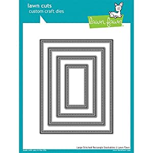 Lawn Fawn Lawn Cuts Custom Craft Die - Large Stitched Rectangle (LF767)