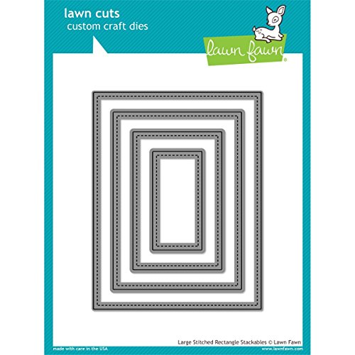 Lawn Fawn Lawn Cuts Custom Craft Die - Large Stitched Rectangle (LF767) by Lawn Fawn