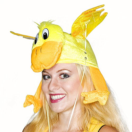 [Yellow Flying Duck Hat] (Duck Costumes Adult)