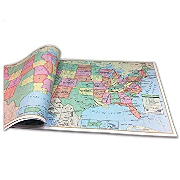 U S Study Map Pad By Universal Map