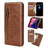 DULINEDO Compatible/Replacement for 2 in 1 Wallet Leather case Apple iPhone 7/8, Retro PU Leather, Supporting Magnetic Car Mount Holder Kickstand