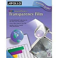 Película de transparencia Apollo para impresoras láser, color, 50 hojas /paquete (VCG7070)