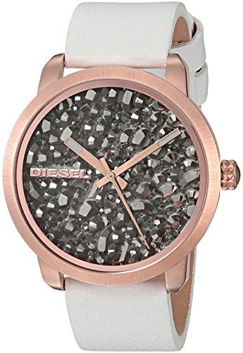 Diesel Women's DZ5551 Flare Rocks White Leather Watch