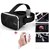 VR BOX PARK V3 Head mounted 3D glasses Helmet + Bluetooth Wireless Remote Control Gamepad Private Theater Cinema Google Cardboard VR Virtual Reality for 4.0-6 inch smart phone