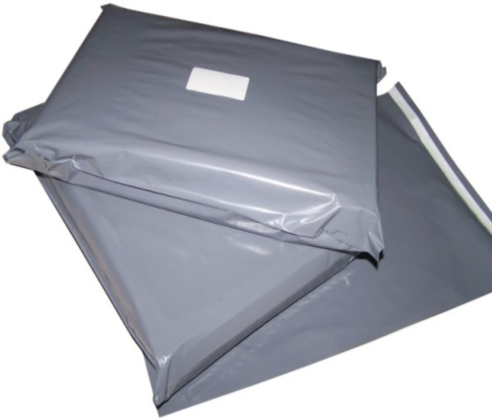 "305mm x 405mm 500 Mailing Mail Plastic Bag Bags Postal Grey 12/"" x 16/"""