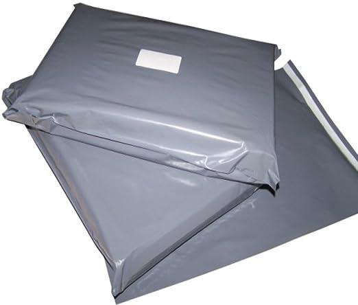 25 gris plástico Polietileno + paquete de sobres con cierre ...
