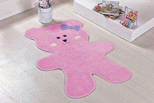 Tapete Formato Urso Biscoito Rosa