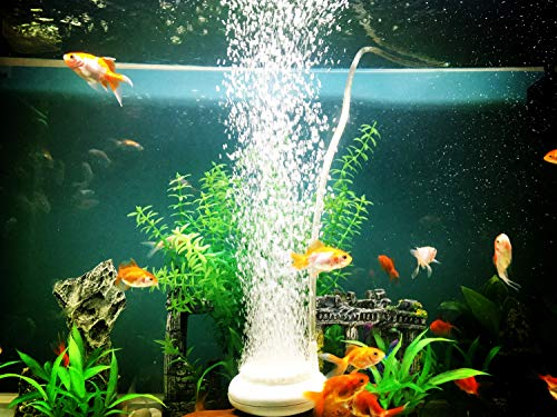 Wenshall Air Stone, Fish Tank Bubbler, Nano Bubble Stone, High Dissolved Oxygen Diffuser for Fish Tank