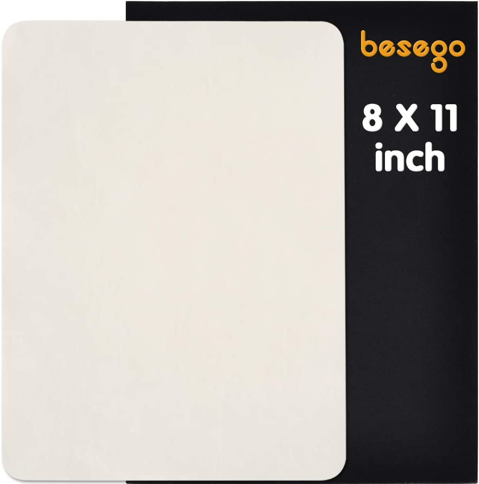 Besego Leather Repair Patch, Leather Adhesive Kit for Sofas, Drivers Seat, Couch, Handbags, Jackets - 8 × 11inch(White)