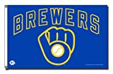 MLB Milwaukee Brewers 3-Foot x 5-Foot Banner Flag