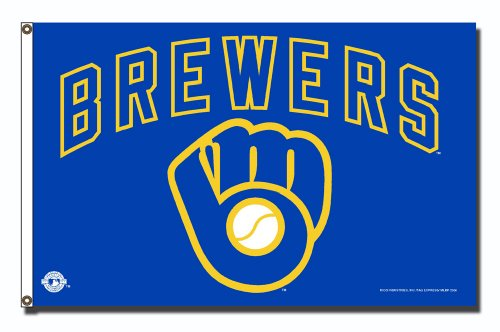 MLB Milwaukee Brewers 3-Foot x 5-Foot Banner Flag ()
