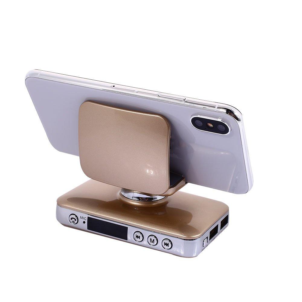 XWU Blueteeth Receiver TF Card Blueteeth Multipoint Portable Music Phone Holder Blueteeth Car Hands-Free Car MP3 Player Portable Music Phone Holder MP3 Player