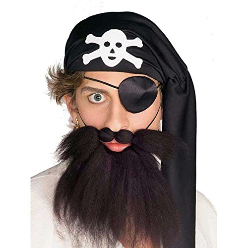 Pirate Beard and Moustache Set