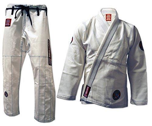 (ROLL HARD BRAND Brazilian Jiu Jitsu Kimonos - White (A3) )