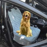 Pet Dog Oxford Cloth Car Front Seat Cover Protection Mat (Light grey) Review