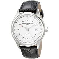 Frederique Constant Men's 'Classics' Swiss Automatic Stainless Steel and Leather Casual Watch, Color:Black (Model: FC350S5B6)
