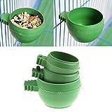 Tangc Mini Parrot Food Water Bowl Feeder Plastic