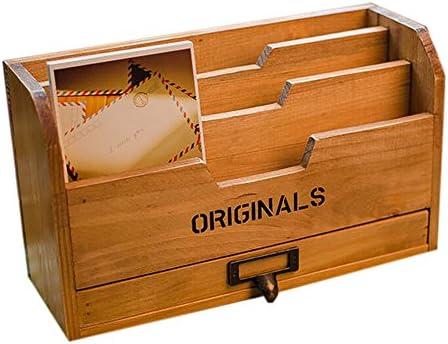 itemer Retro Holz Aufbewahrungsbox Organizer Schreibtisch Decor für Karten, Stift, Make-up-Pinsel und so weiter