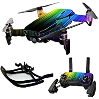 MightySkins Skin for DJI Mavic Air Drone - Rainbow Streaks | Max Combo Protective, Durable, and Unique Vinyl Decal wrap cover | Easy To Apply, Remove, and Change Styles | Made in the USA