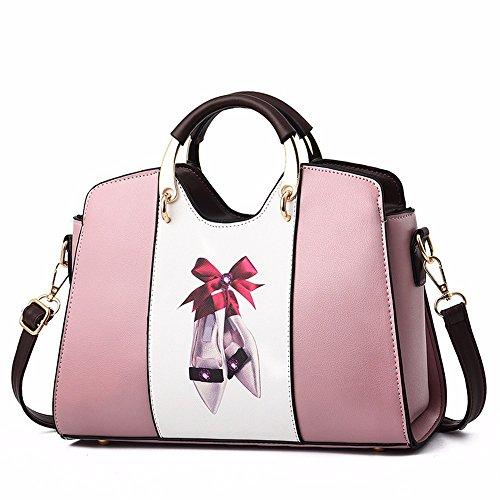 Rosado Crossbody Negro Mujer Mano Bag para Bolso de CCZUIML fPZRqw