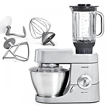 Kenwood planetaria Chef Premier KMC570 + at358 Capacidad 4.6 L potencia 1000 W), Silver: Amazon.es: Hogar