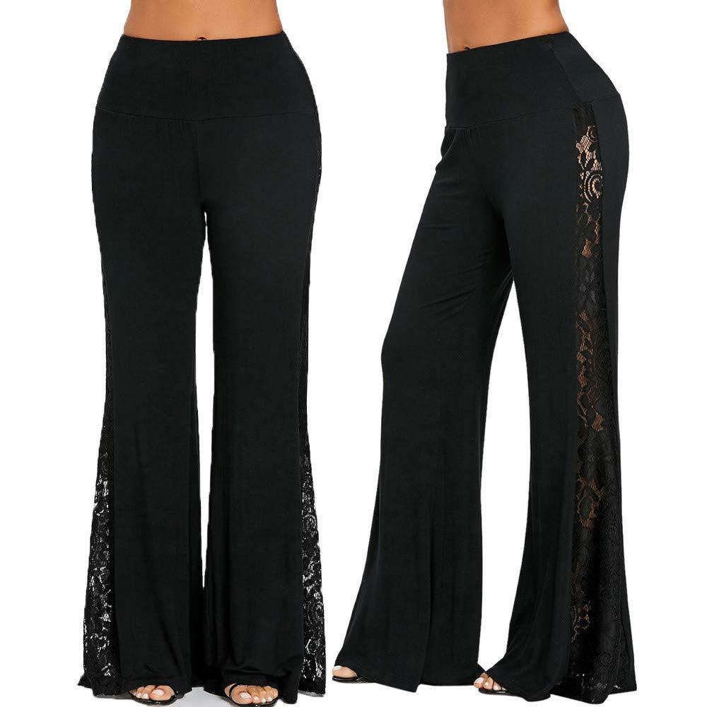 Womens Harem Pants Bohemian Clothes Boho Yoga Hippie Pants Smocked Waist Black