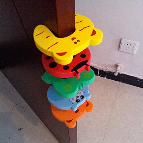 Labu Store New 5pcs in 1 lot Cartoon Animal Baby Kids Toddler Child Safety Care Security Door Stopper Corner Protector Finger Guard Protection