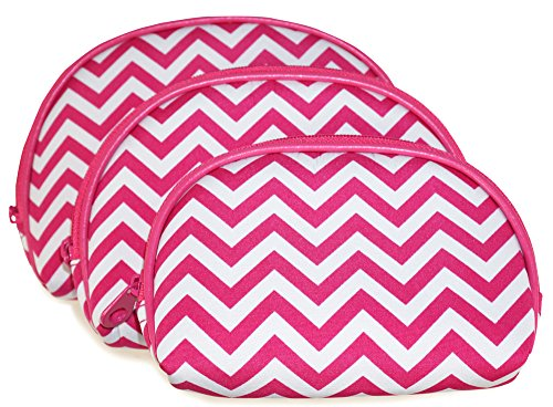 ever-moda-pink-chevron-3-piece-cosmetic-bag-set