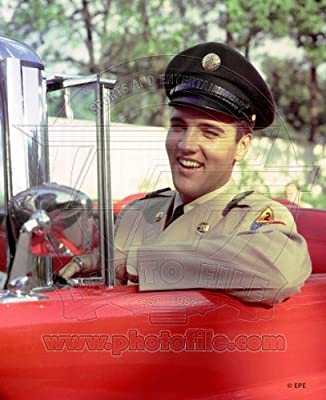 Elvis Presley - Official 8x10 Glossy Photo (sitting in car)
