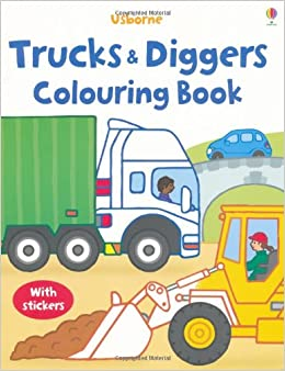 trucks and diggers usborne first colouring books my first colouring book - Usborne Coloring Books