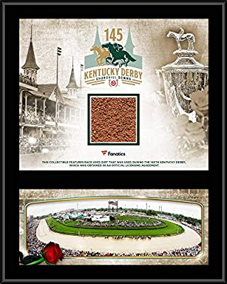 "Kentucky Derby 145 12"" x 15"" Event Sublimated Plaque with Race-Used Dirt from the 145th Kentucky Derby"