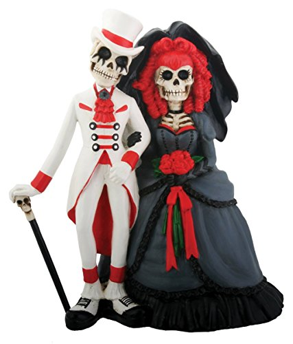 Skeleton Dod Gothic Wedding Couple Figurine Decoration Collectible ()